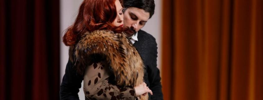Audrey Fleurot et Micha Lescot photo de répétition, janvier 2016 © Thierry Depagne