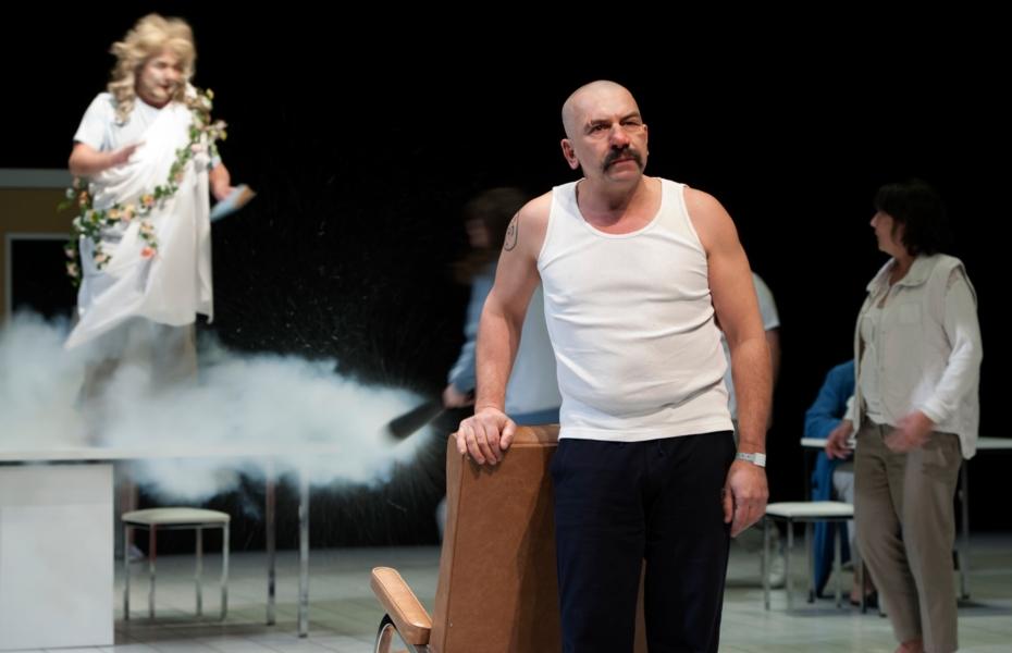 Philippe Torreton dans Cyrano photo Brigitte Enguérand