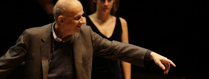 Luc Bondy en répétion d'Ivanov avec Victoire Du Bois (c) Thierry Depagne