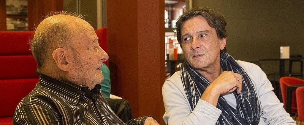 Michel Vinaver et Christian Schiaretti © Michel Cavalca