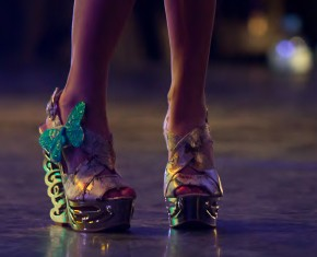 entorse gros plan chaussures